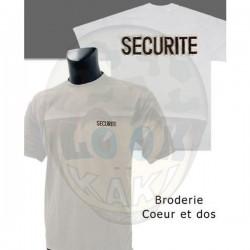TEE SHIRT BRODE SECURITE...